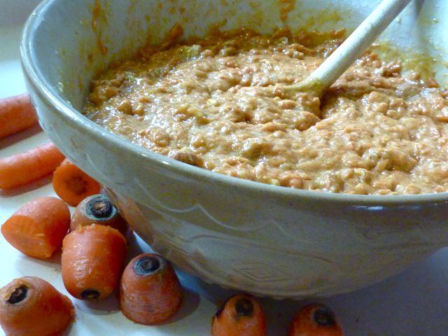 Carrot cake batter