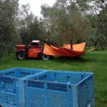 Tree shaker and olive bins